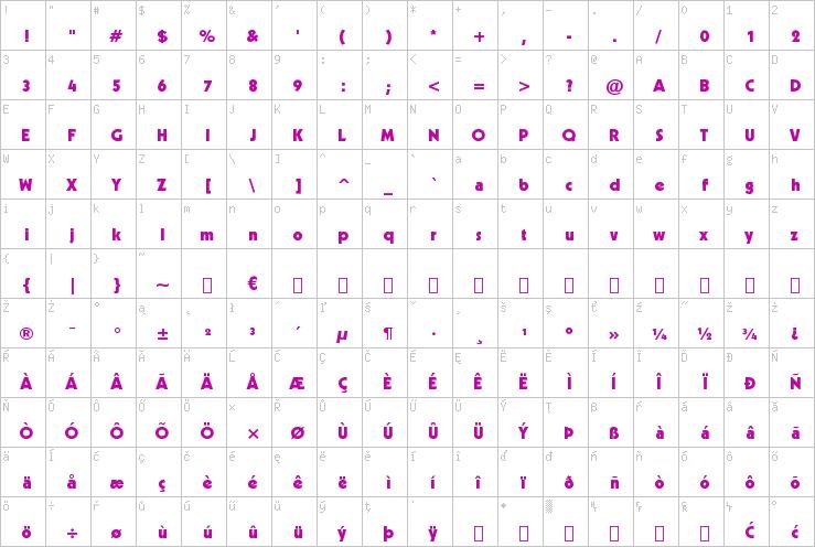 Download Free Geometric Heavy Bt Font