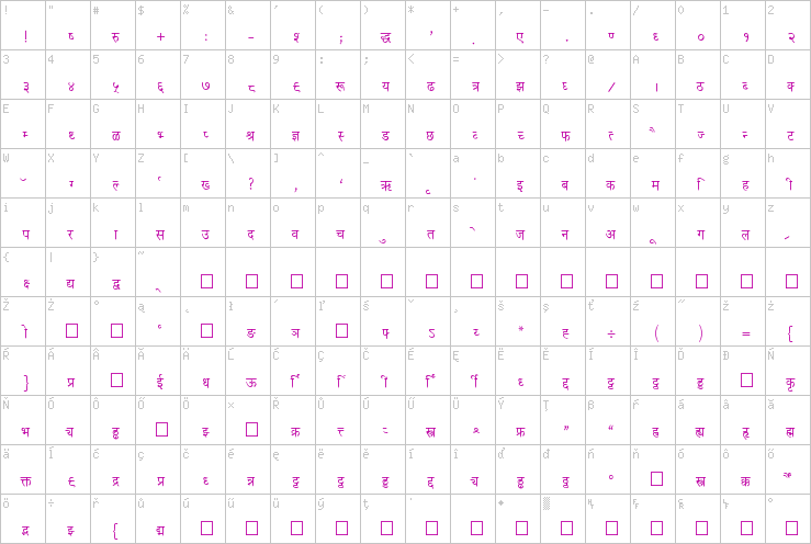 Kruti Dev 021 » K » Text Fonts » TrueType » Free Font