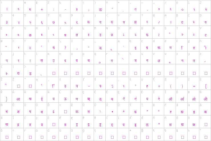 Pooja Normal » Hindi Fonts » Foreign Language Fonts